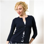 525 america cotton one button cardigan