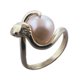 Bluesuits Online: Fresh water pearl 18 karat gold ring