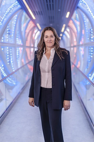 Dr. Martine Rothblatt in Bluesuits Custom Pantsuit