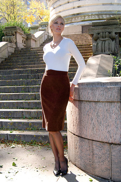 Bluesuits Chocolate 27 inch Pencil Skirt