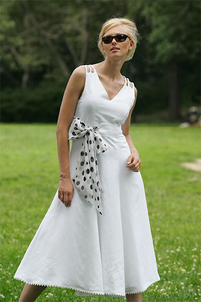 Bluesuits White Linen Long Dress