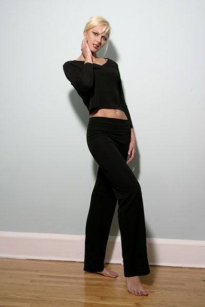 Bluesuits Custom Matt Jersey Fold Over Wide Leg Pants