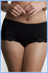 le mystere black lace boy leg