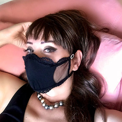 Bluesuits Tulle face Mask with Lace Trim