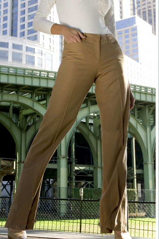 Bluesuits Camel Tropical Wool Wide Leg business Pants