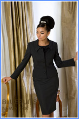 Bluesuits Charcoal Round neck jacket and wide leg pants