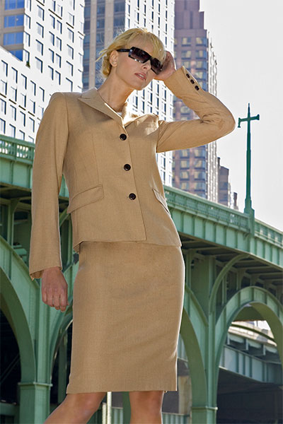 Bluesuits Melinda Camel Tropical Wool Jacket
