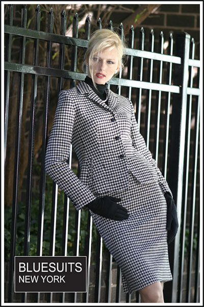 Bluesuits Katherine Houndstooth Jacket shown with Skirt