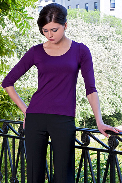 Bluesuits Purple Bamboo Knot Top
