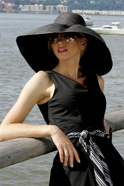 Bluesuits Black Straw Hat