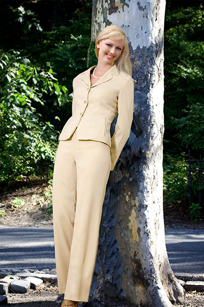 Bluesuits Beige Crepe Katherine Jacket