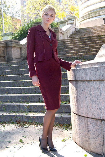 Bluesuits Merlot  Barbara Jacket