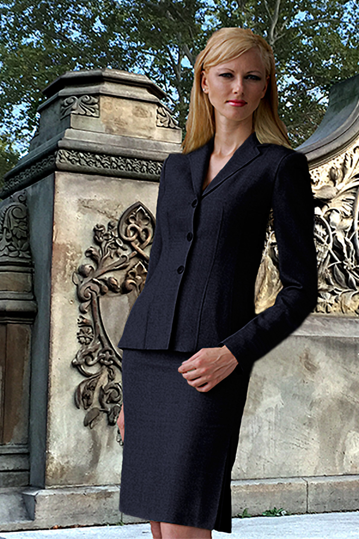 Bluesuits Lyla Navy Tropical Wool Jacket
